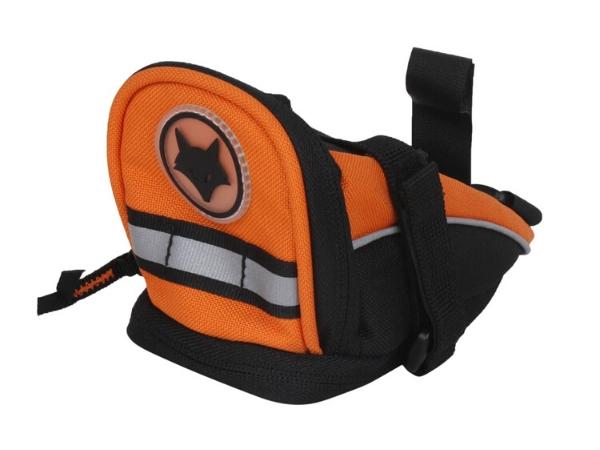 Firefox Bicycle Seat Post Bag - Black/Orange