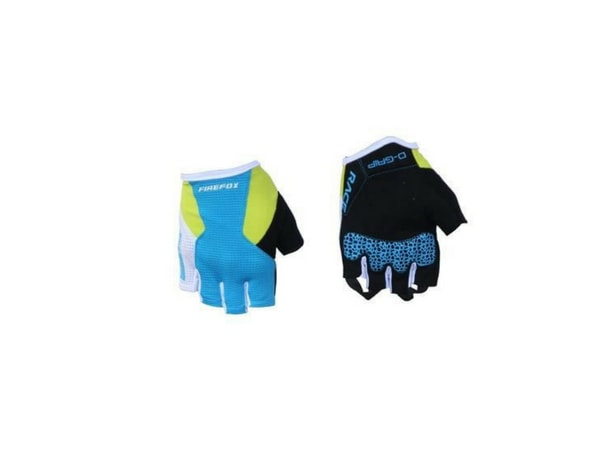 Firefox Cycling Gloves - Blue/Neon Yellow