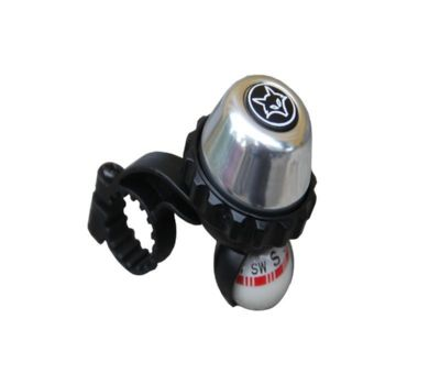 Firefox Rotating Bell with Compass - Silver/Black