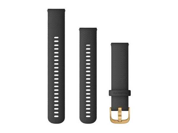 Garmin Quick Release Band (20 mm), Black/Rose Gold Band (For Vivoactive 3, Vivoactive 3 Music, Vivomove HR, Forerunner 645 Music)