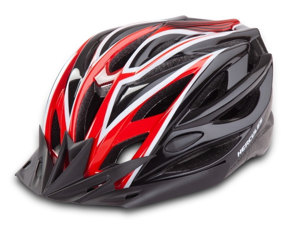 Hercules Cycling Helmet - Black/Red
