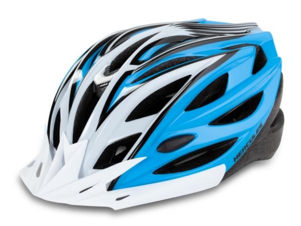 Hercules Cycling Helmet - White/Blue