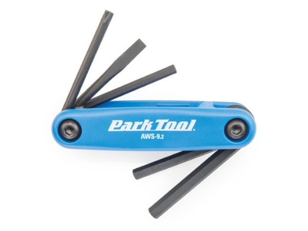 Park Tool Fold-up Hex Wrench and Screwdriver Set T25 Torx, 4mm, 5mm, 6mm