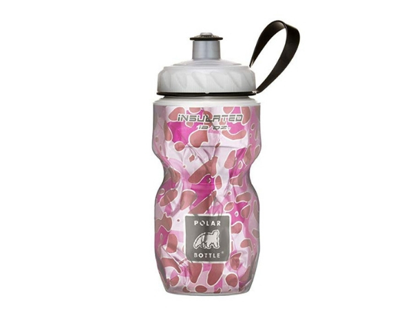 Polar Insulated Bottle 12oz - Pink Leopard