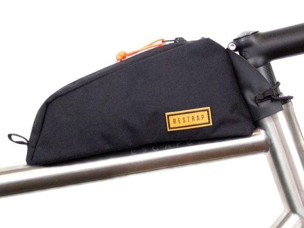 Restrap Bolt-on Top Tube Bag - Black