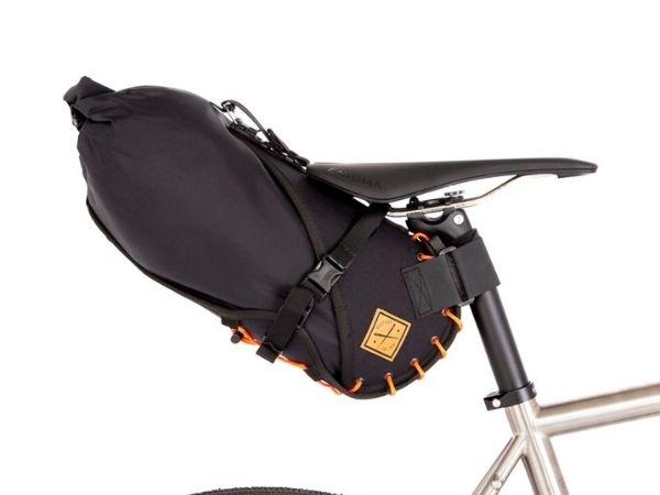 Restrap Saddle Bag - Black/Orange - 8L