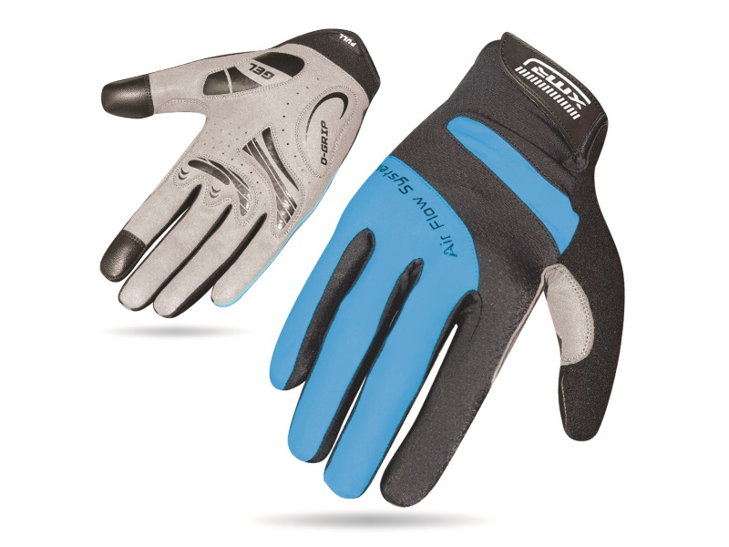 XMR Air Flow Gel Gloves - Black/Blue