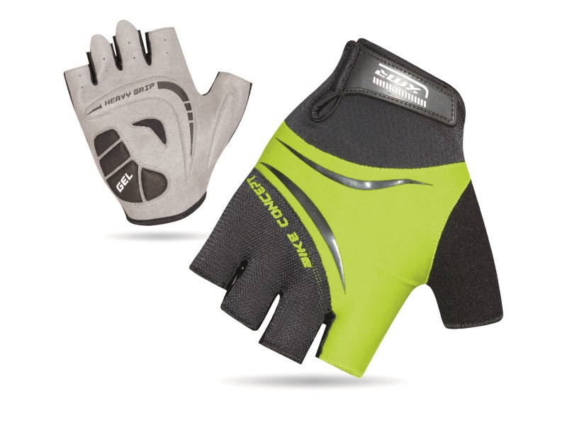 XMR Bike Concept Gel Gloves - Black/Green