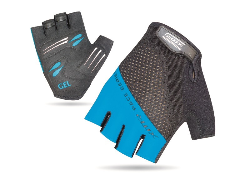XMR Race Series Gel/Foam Gloves - Black/Blue