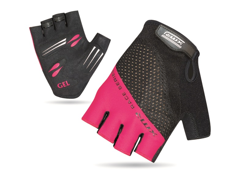XMR Race Series Gel/Foam Gloves - Black/Light Pink