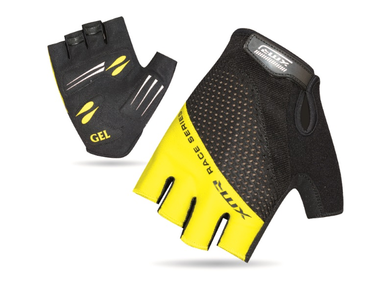 XMR Race Series Gel/Foam Gloves - Black/Yellow