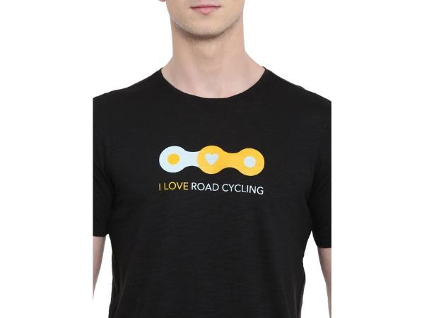 2Go Cycling Inspired T-Shirt - Black