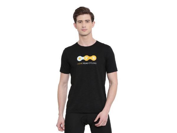 2Go Cycling Inspired T-Shirt Black