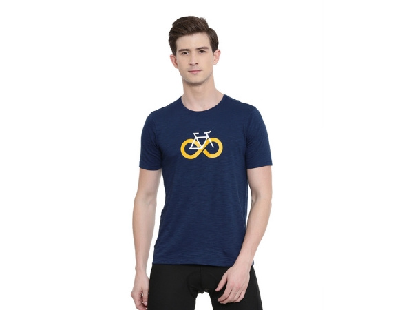 2Go Cycling Inspired T-Shirt Prussian Blue