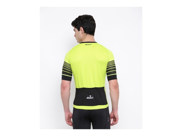 2Go Men Cardio Lemon Green Cycling Jersey