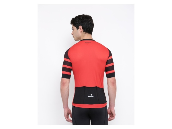 2Go Men Cardio Red Cycling Jersey