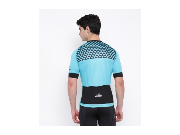 2Go Men Cardio Turquoise Cycling Jersey