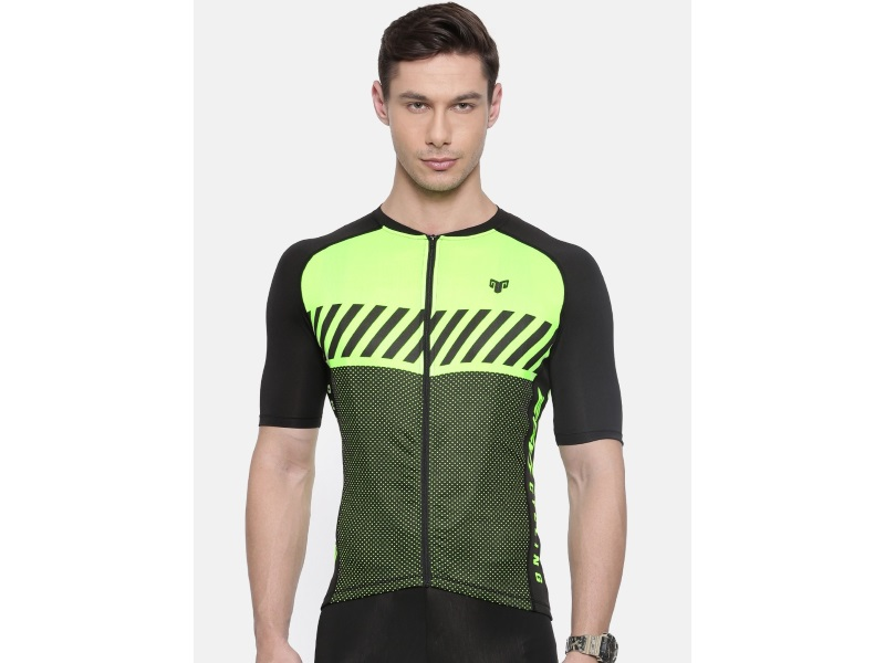 2Go Men Green Cycling Jersey