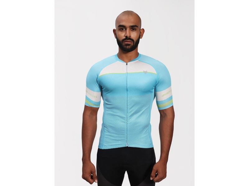 2Go Men Steel Blue Cycling Jersey