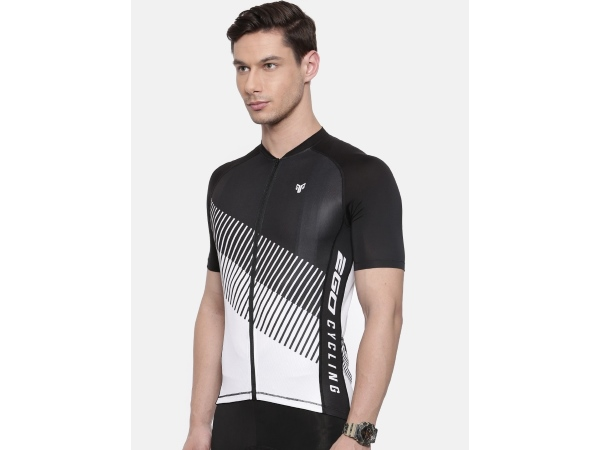 2Go Men White Cycling Jersey