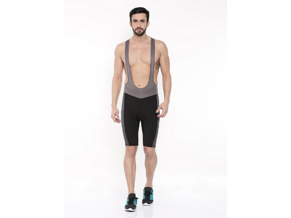 2Go Men's Bib Shorts - Black-Grey