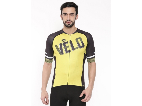 2Go Men's Cycling Jersey - Velo Love - Yellow