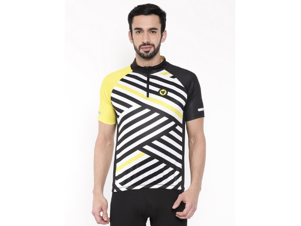 2Go Men's Half Zipper Cycling Jersey - Yellow