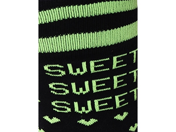 2Go Pull Up Length Cycling Socks - Black/Green