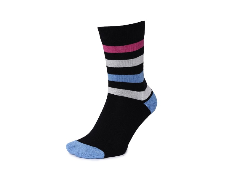 2Go Pull Up Length Cycling Socks - Dark Blue