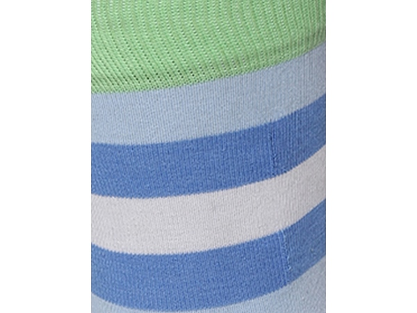 2Go Pull Up Length Cycling Socks - Blue/Green