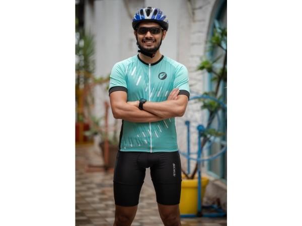 Apace Chase Mens Cycling Jersey - Aqua