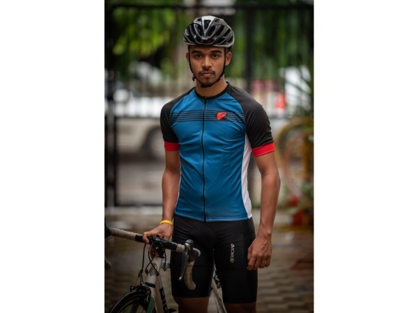 Apace Chase Mens Cycling Jersey - Blue/Black