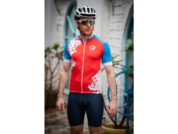 Apace Chase Mens Cycling Jersey - Blue