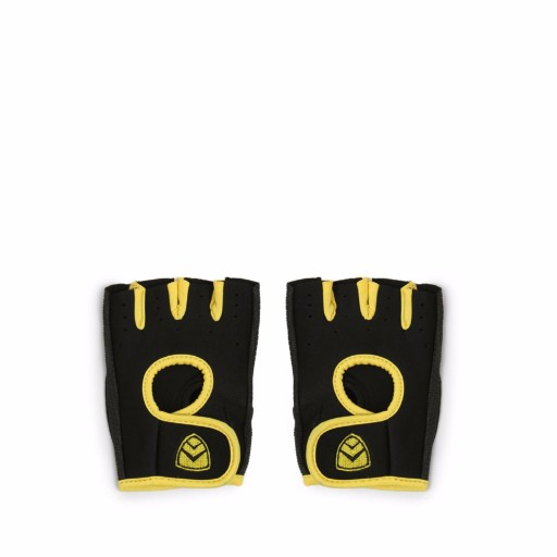 ARMR Black-Yellow Sport Adjustable Gloves