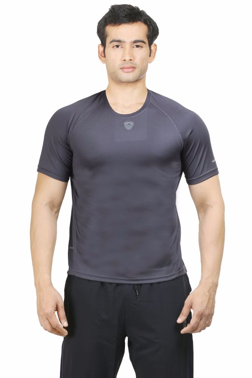ARMR Charcoal Sport Crew Neck Tee