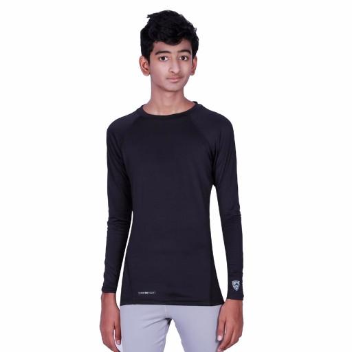 ARMR Junior Black SKYN Full-Sleeve T-Shirt