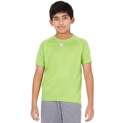 ARMR Junior Neon Green Sport Crew Neck Tee