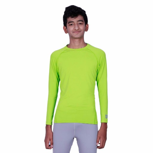 ARMR Junior Neon Green SKYN Full-Sleeve T-Shirt