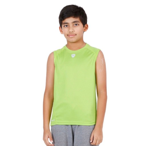 ARMR Junior Neon Green Sport Sleeveless Tee