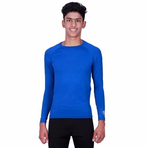 ARMR Junior Royal Blue SKYN Full-Sleeve T-Shirt