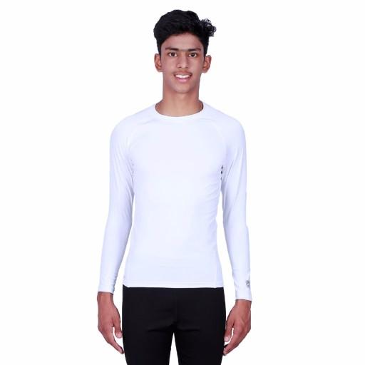 ARMR Junior White SKYN Full-Sleeve T-Shirt