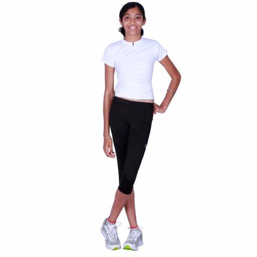 ARMR Junior Women Black SKYN 3/4th Capris