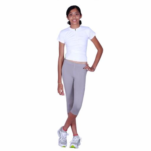 ARMR Junior Women Grey SKYN 3/4th Capris