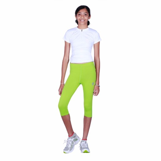 ARMR Junior Women Neon Green SKYN 3/4th Capris