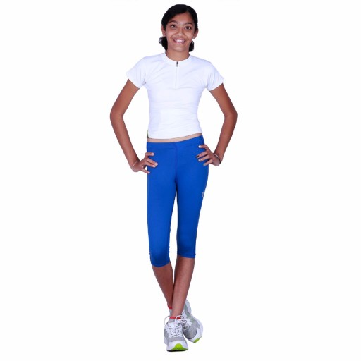 ARMR Junior Women Royal Blue SKYN 3/4th Capris