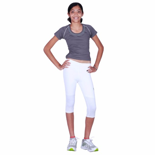 ARMR Junior Women White SKYN 3/4th Capris