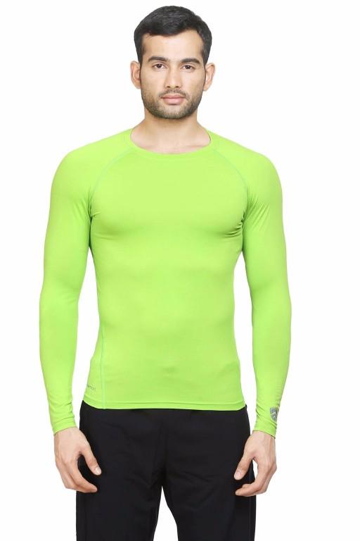 ARMR Neon Green SKYN Full-Sleeve T-shirt