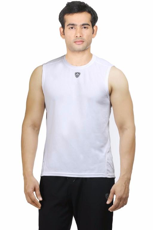 ARMR White Sport Sleevless Tee