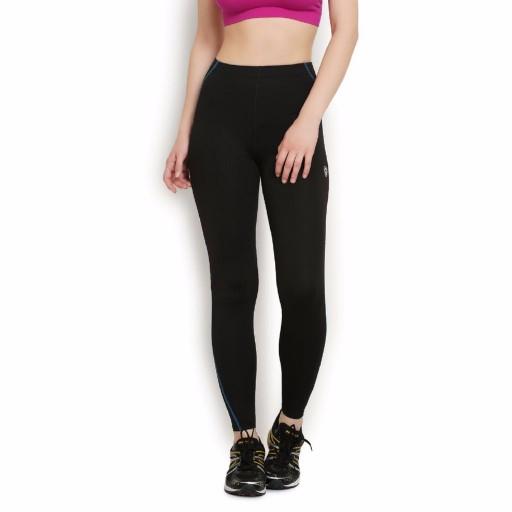 ARMR Women Black-Blue Sport Full-Length Tights
