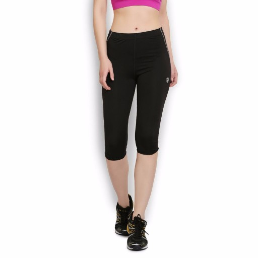 ARMR Women Black-Grey Sport 3/4th Capris